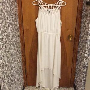 White hi-low dress